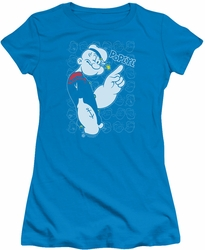 Popeye juniors t-shirt Get To The Point turquoise