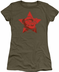 Popeye juniors t-shirt Red Star military green