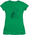 Popeye juniors t-shirt Spinach Strong kelly green