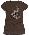 Popeye juniors t-shirt Strong To Tha Finish coffee
