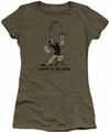 Popeye juniors t-shirt Strong To The Finish military green