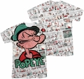 Popeye mens full sublimation t-shirt Comic Strip