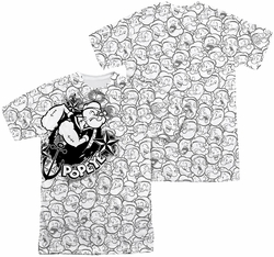 Popeye mens full sublimation t-shirt Many Faces Of