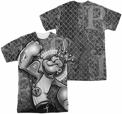 Popeye mens full sublimation t-shirt Spinach King