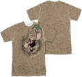 Popeye mens full sublimation t-shirt Strongs To Tha Finch