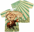 Popeye mens full sublimation t-shirt Traveling Man