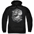 Popeye pull-over hoodie Anchors Away adult black