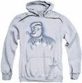 Popeye pull-over hoodie Back Tat adult athletic heather