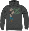 Popeye pull-over hoodie Break Out Spinach adult charcoal