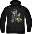 Popeye pull-over hoodie Get More Spinach adult black