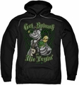 Popeye pull-over hoodie Get Spinach adult black