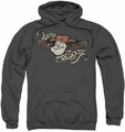 Popeye pull-over hoodie I Am adult charcoal
