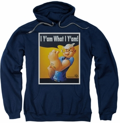 Popeye pull-over hoodie I Can Do It adult navy
