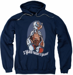 Popeye pull-over hoodie I Yams adult navy