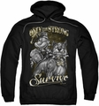 Popeye pull-over hoodie Only The Strong adult black