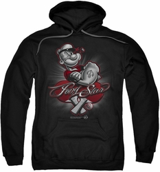 Popeye pull-over hoodie Pong Star adult black