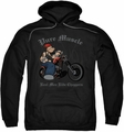 Popeye pull-over hoodie Pure Muscle adult black