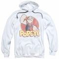 Popeye pull-over hoodie Retro Ring adult white