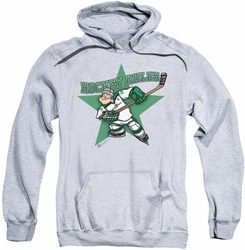 Popeye pull-over hoodie Spinach Leafs adult athletic heather