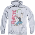 Popeye pull-over hoodie Spinach Power adult athletic heather