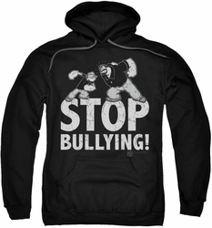 Popeye pull-over hoodie Stop Bullying adult black