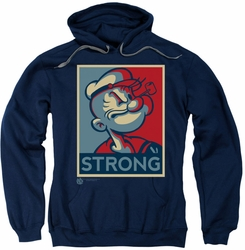 Popeye pull-over hoodie Strong adult navy