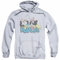 Popeye pull-over hoodie The Gang adult athletic heather
