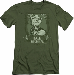 Popeye slim-fit t-shirt All About The Green mens military green