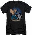 Popeye slim-fit t-shirt Biker Popeye mens black