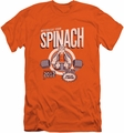 Popeye slim-fit t-shirt Eat Your Spinach mens orange