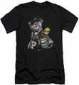 Popeye slim-fit t-shirt Get More Spinach mens black