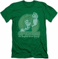 Popeye slim-fit t-shirt Green Energy mens kelly green