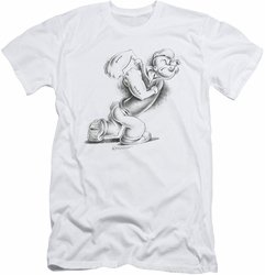 Popeye slim-fit t-shirt Here Comes Trouble mens white