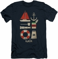 Popeye slim-fit t-shirt Items mens navy