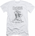 Popeye slim-fit t-shirt Ladies Man mens white