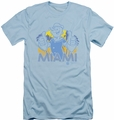 Popeye slim-fit t-shirt Miami mens light blue