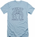 Popeye slim-fit t-shirt Muscle Club mens light blue