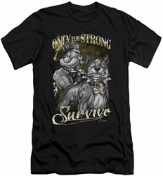 Popeye slim-fit t-shirt Only The Strong mens black
