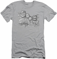 Popeye slim-fit t-shirt Pop Rushmore mens silver
