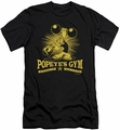 Popeye slim-fit t-shirt Popeyes Gym mens black