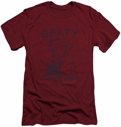 Popeye slim-fit t-shirt Salty Dog mens scarlet/cardinal