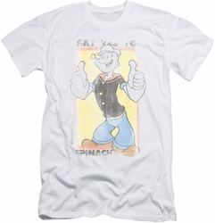 Popeye slim-fit t-shirt Say Yes To Spinach mens white