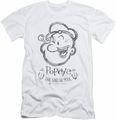Popeye slim-fit t-shirt Sketch Portrait mens white