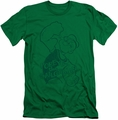 Popeye slim-fit t-shirt Spinach Strong mens kelly green