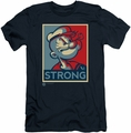Popeye slim-fit t-shirt Strong mens navy