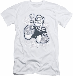 Popeye slim-fit t-shirt Tattooed mens white