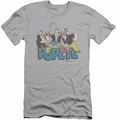 Popeye slim-fit t-shirt The Gang mens silver