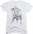 Popeye slim-fit t-shirt Walking The Dog mens white