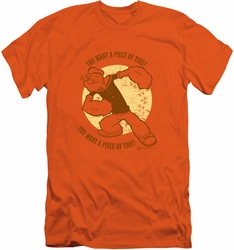 Popeye slim-fit t-shirt You Want A Piece Of This mens orange