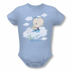 Popeye snapsuit Baby Clouds light blue